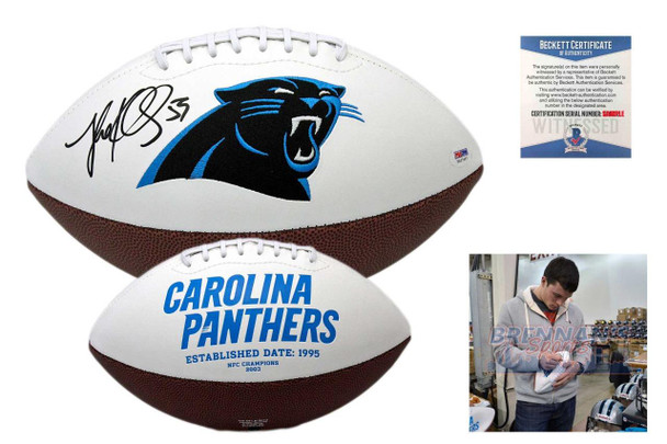 Luke Kuechly Autographed SIGNED Carolina Panthers Logo Football - Beckett
