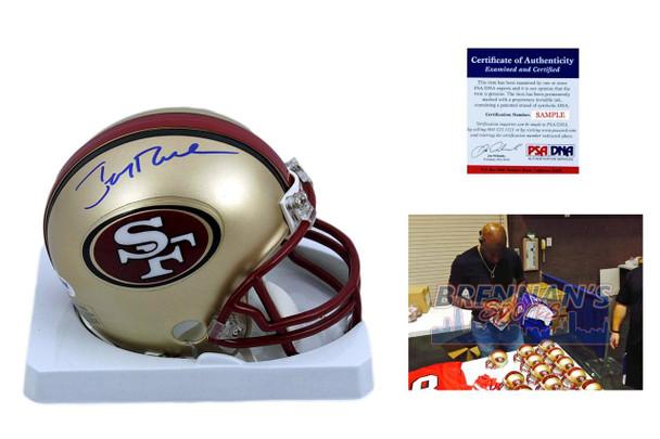 1c046bf75 Jerry Rice Signed Mini Helmet - San Francisco 49ers Autographed - PSA DNA