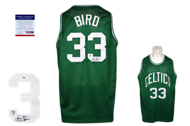 Larry Bird Autographed Signed Jersey - Beckett Authentic - Green