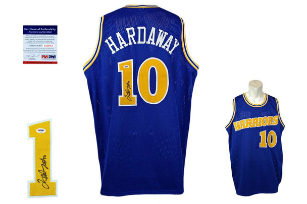 Tim Hardaway Signed Jersey - PSA DNA - Golden State Warriors Autographed