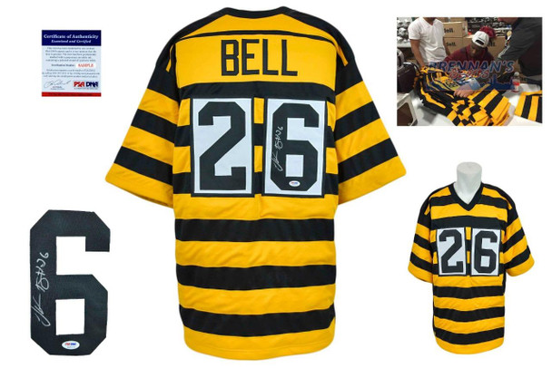 799d6e815f0 ... LeVeon Bell Signed Jersey - JSA Witness - Pittsburgh Steelers  Autographed - Bumble Bee ...