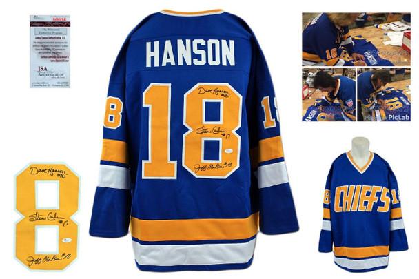 Hanson Brothers Signed Jersey - JSA Witness - Slap Shot Autographed