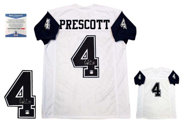 Dak Prescott Autographed Signed Jersey - Beckett Authentic - TB