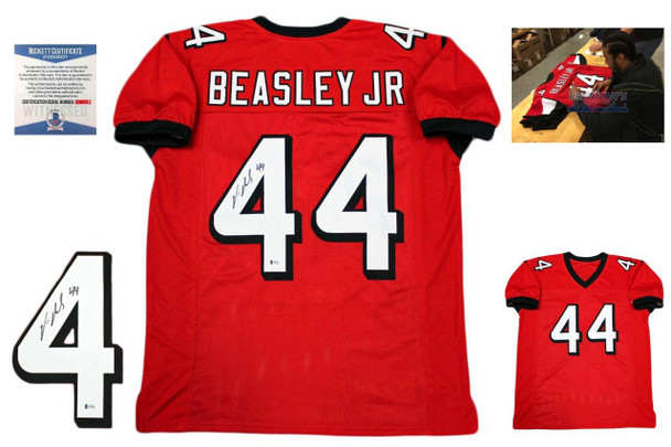 a87db90af Vic Beasley Autographed Signed Jersey - Beckett Authentic - Red ...