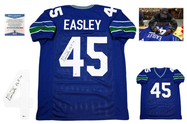 Kenny Easley Autographed Signed Jersey - Beckett Authentic - HOF