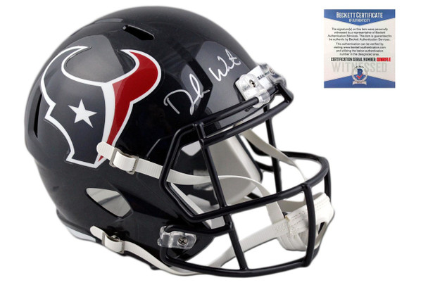 Deshaun Watson Autographed Houston Texans Full Size Speed Helmet
