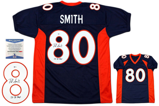 Rod Smith Autographed Signed Jersey - Beckett Authentic - Navy