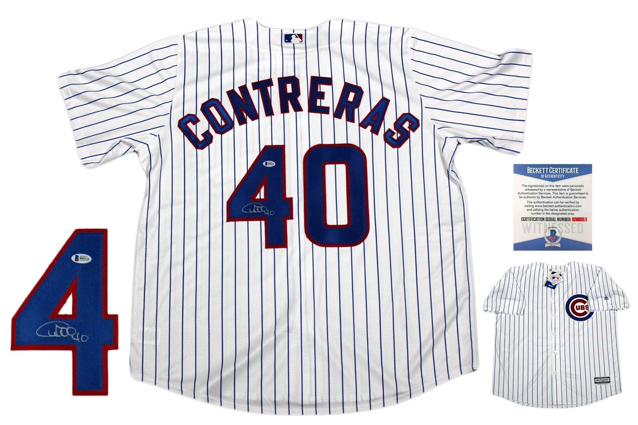 best service 5619c b348a Willson Contreras Autographed Signed Chicago Cubs Majestic Jersey - Beckett