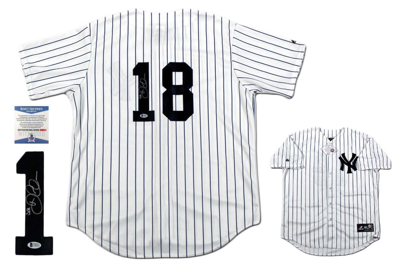 low cost 2a0db 4903c Didi Gregorius Autographed New Yankees Majestic Jersey - Beckett
