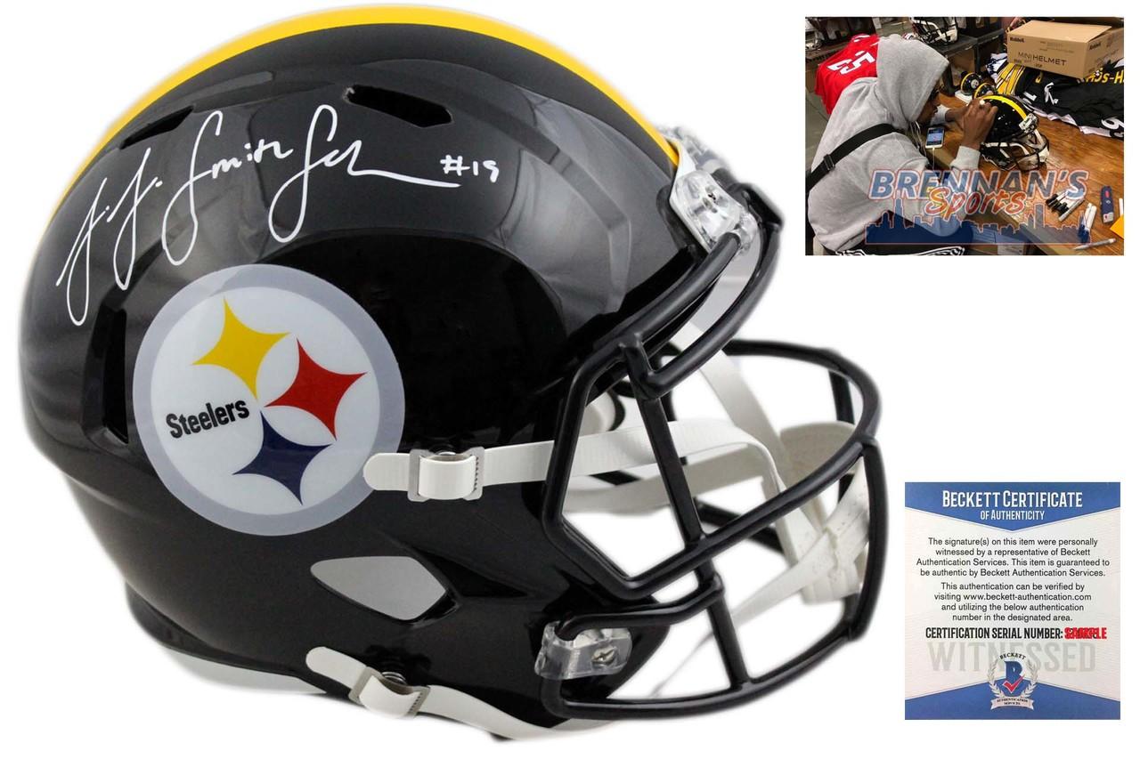 JuJu Smith-Schuster Autographed Helmet - Pittsburgh Steelers Signed -  Beckett - BrennansSports.com 3b26568d0