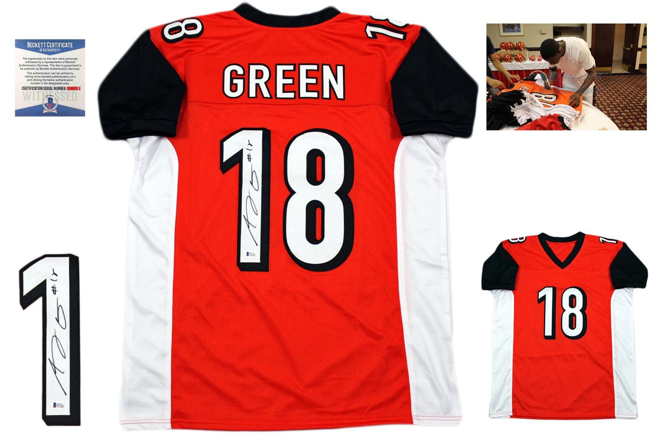 Aj Green Signed Jersey - Beckett Authentic - Orange