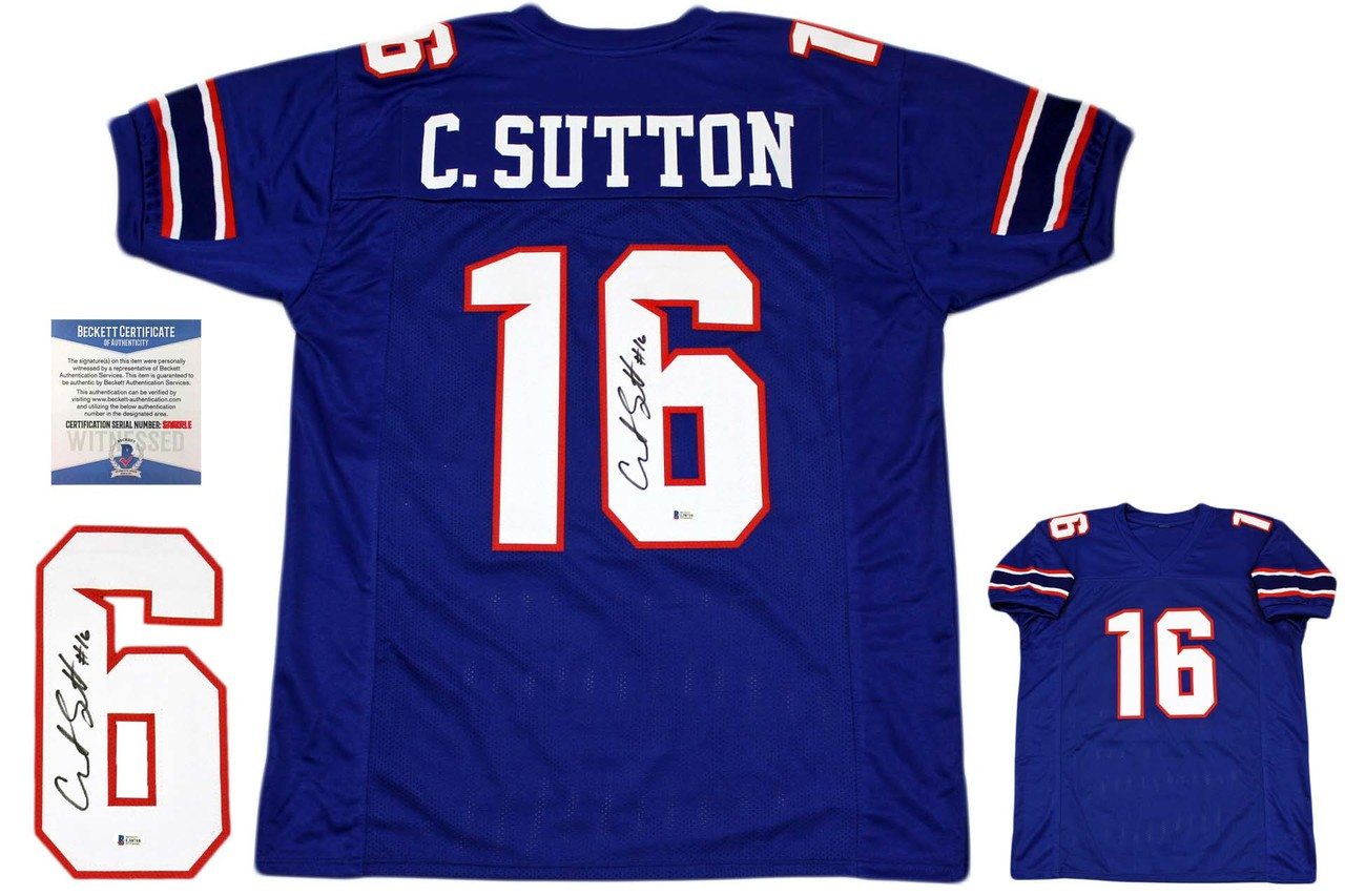 huge selection of c6c9c b8677 Courtland Sutton Autographed Signed Jersey - Royal