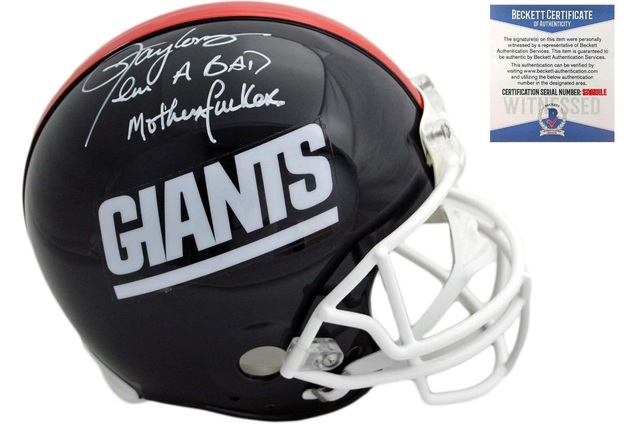 18b02e06aa6 Lawrence Taylor Autographed NY Giants Authentic Helmet - Bad Mother ...