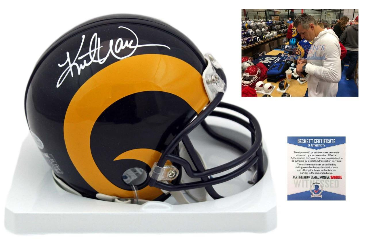 premium selection b007b 17c8a Kurt Warner Autographed Signed St. Louis Rams Mini Helmet - TB - Beckett