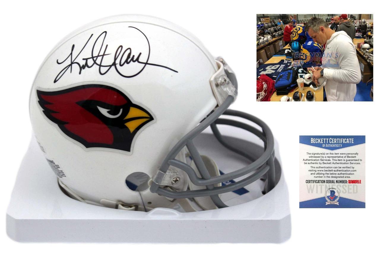the best attitude 0eaa2 f754a Kurt Warner Autographed Signed Arizona Cardinals Mini Helmet - Beckett