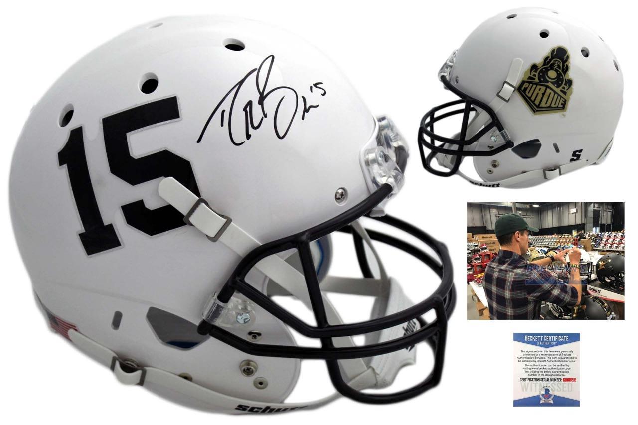 269c20694 Drew Brees Autographed SIGNED Purdue Boilermakers Helmet - Beckett ...