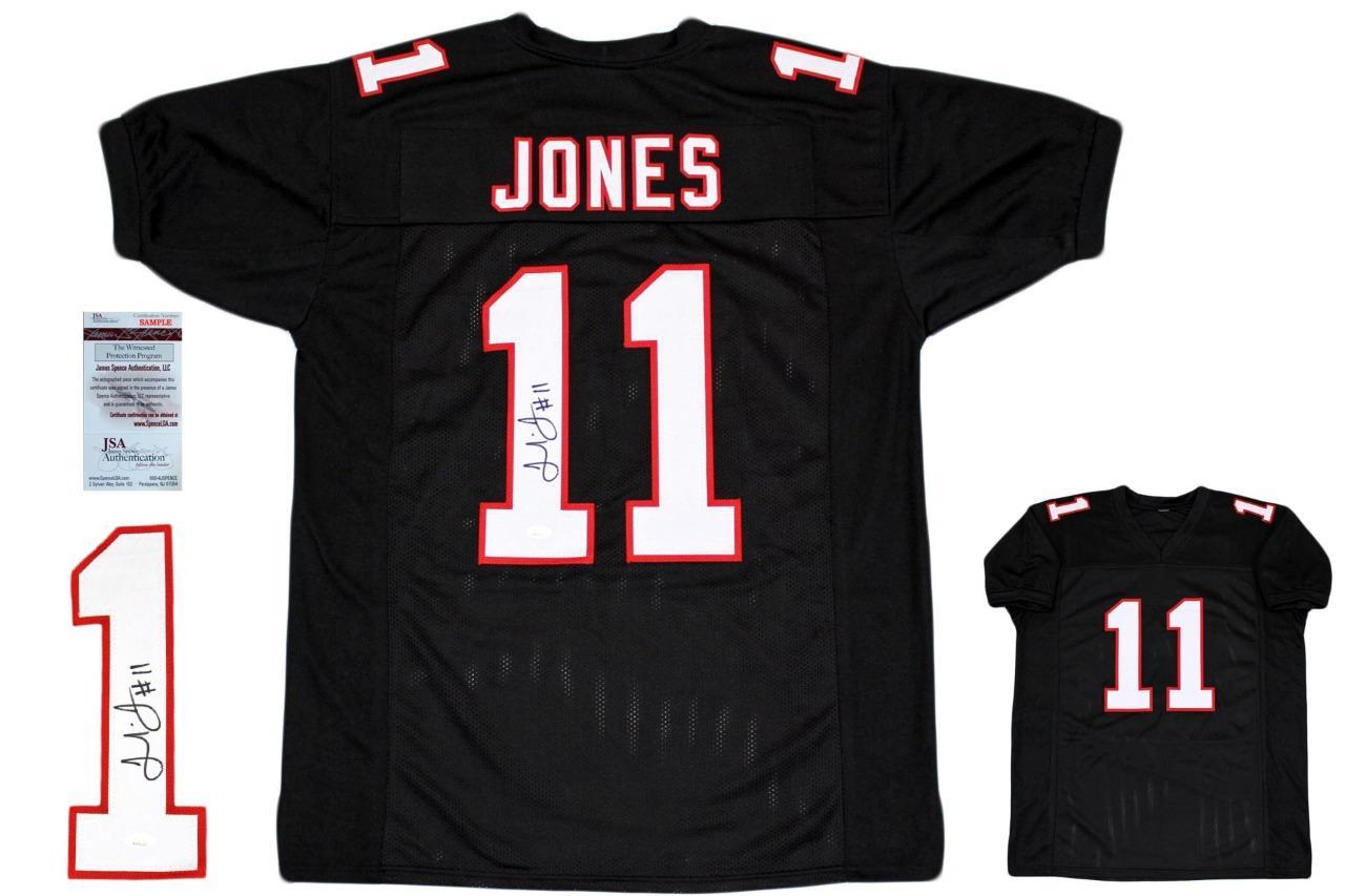 sports shoes 50269 15c96 Julio Jones Autographed Signed Jersey - Black - JSA Authentic