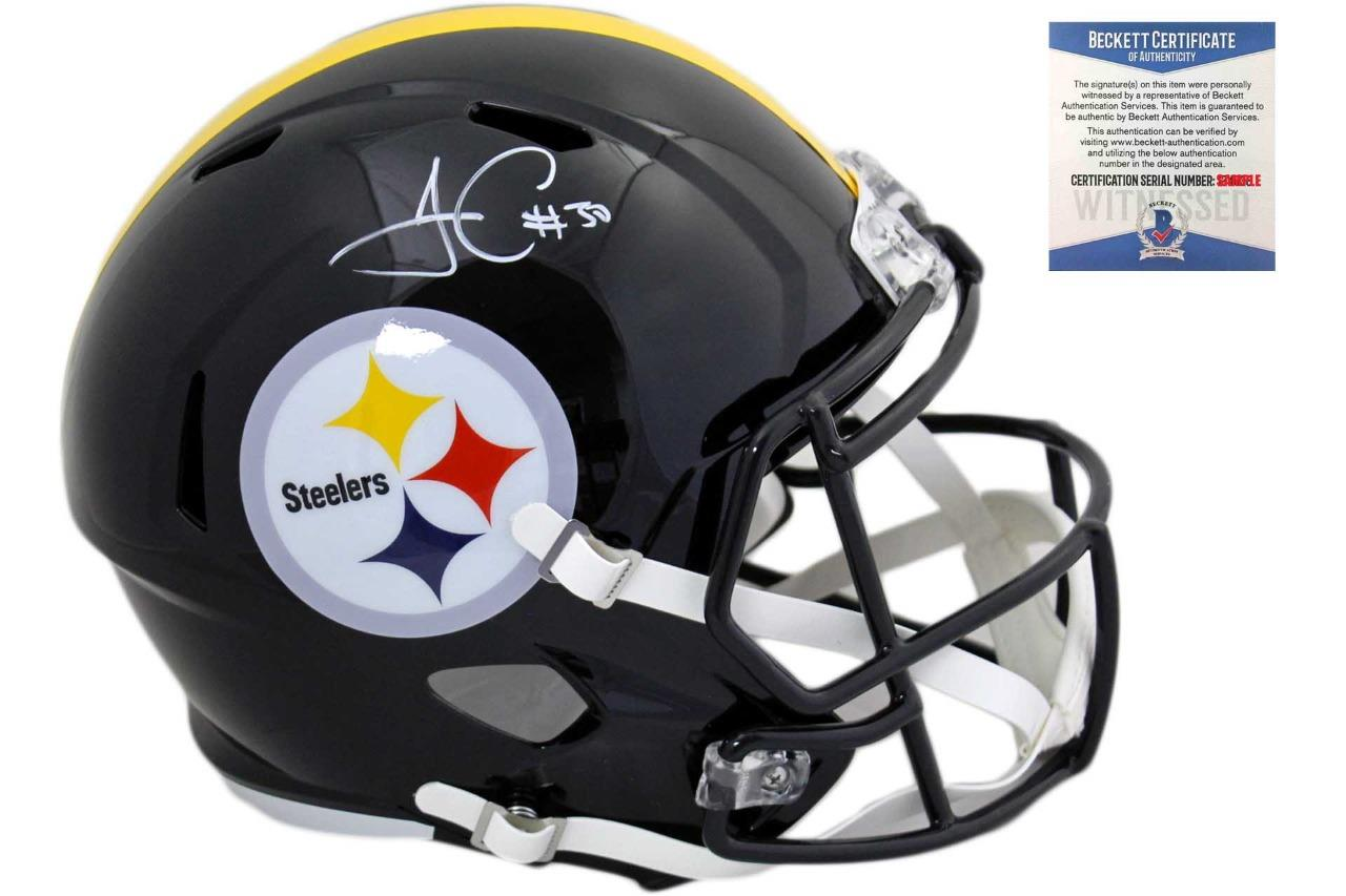 new products 2e607 349a1 Pittsburgh Steelers James Conner Autographed Speed Helmet - Beckett  Authentic