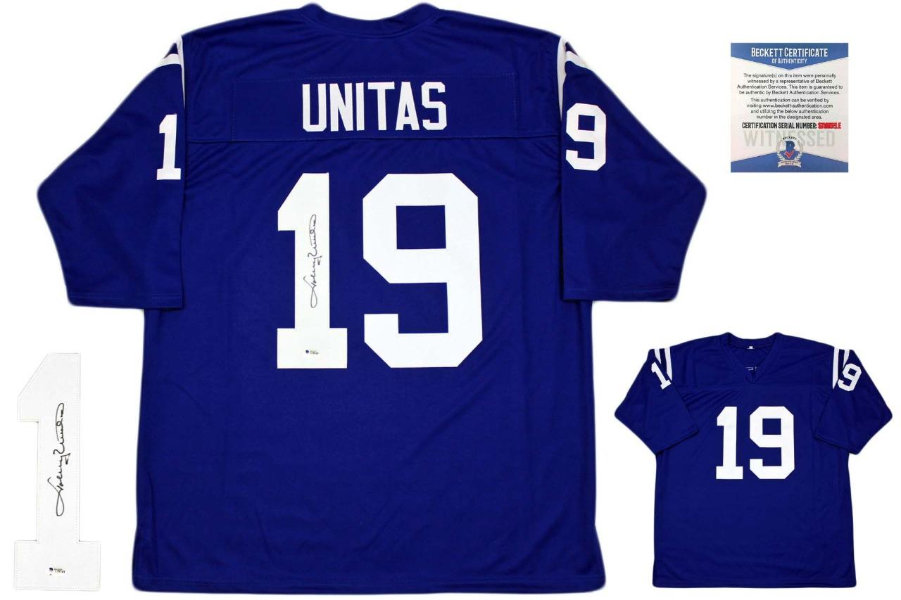 best website 5380f 65b74 Johnny Unitas Autographed Signed Jersey - Beckett Authentic