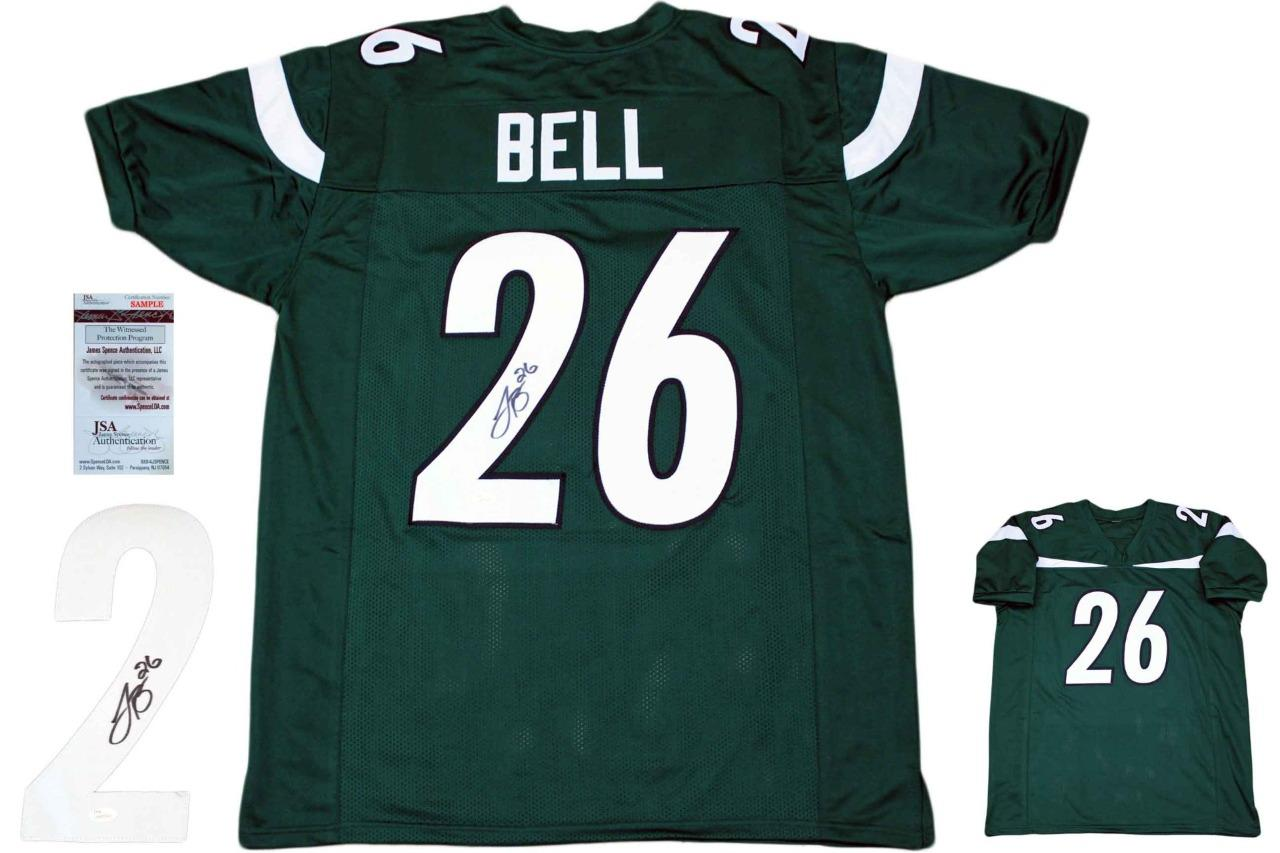 finest selection dab8a a2c09 Leveon Bell Autographed Signed Jersey - Green - JSA Authentic
