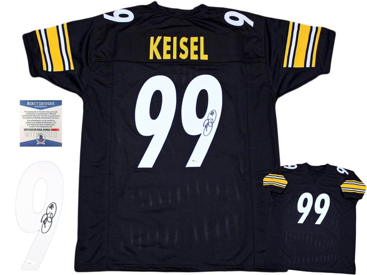 Brett Keisel Autographed Signed Jersey - Black - Beckett Authentic