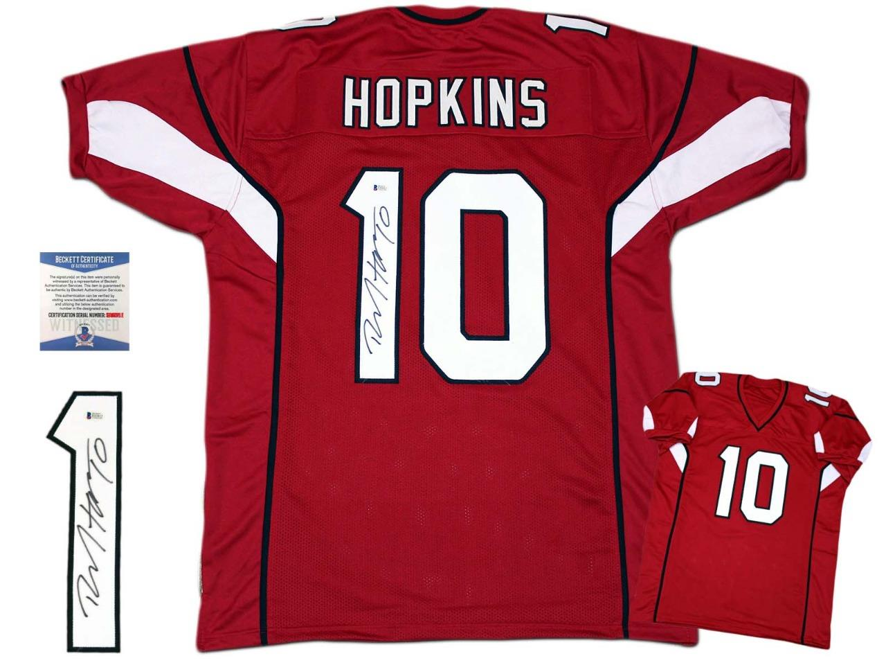 DeAndre Hopkins Autographed Signed Jersey - Red - Beckett Authentic