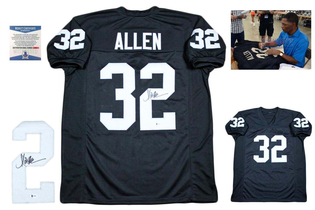 Marcus Allen Autographed Signed Jersey - Beckett Authentic - Black