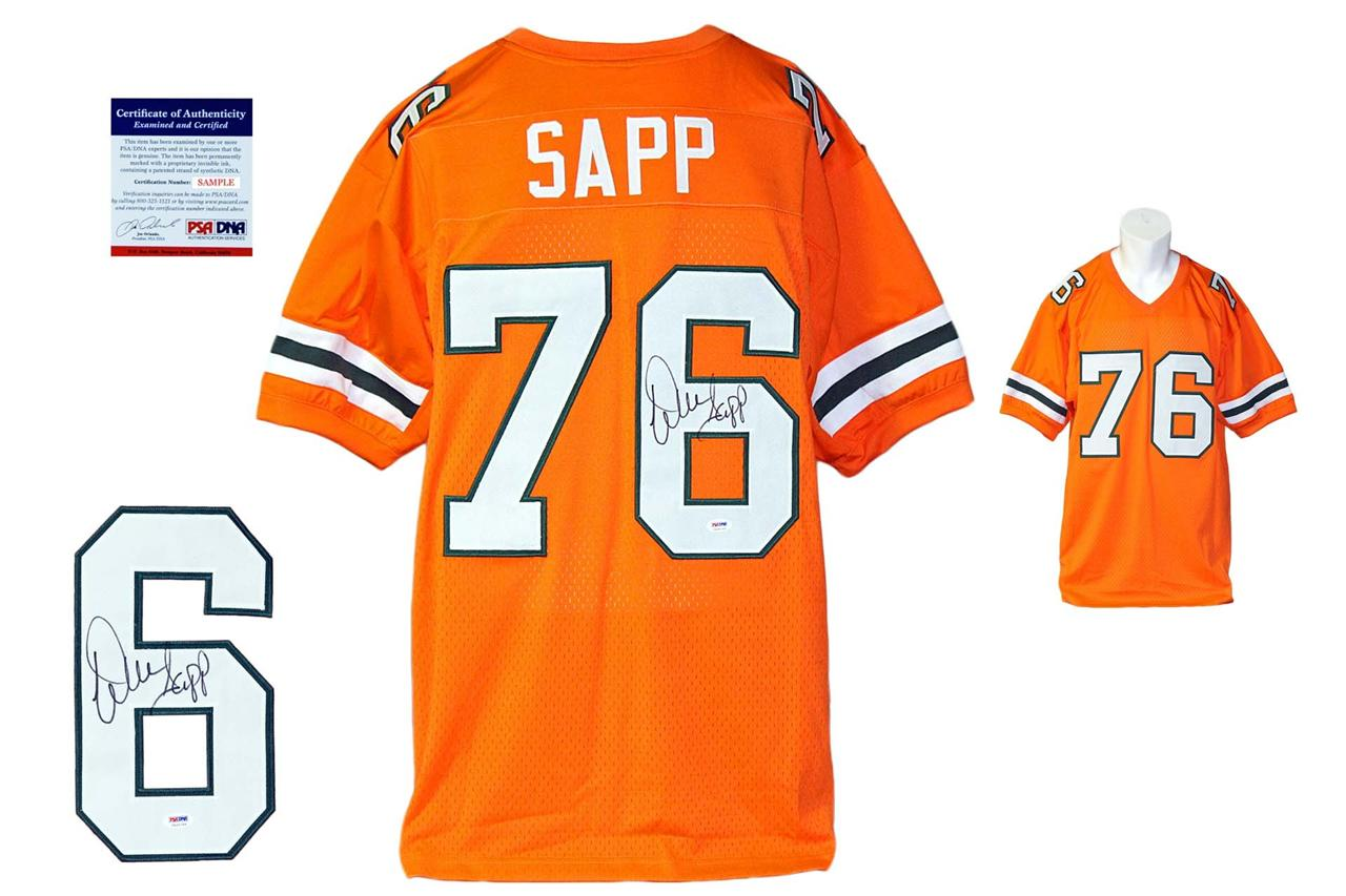 quality design fc271 62574 Warren Sapp Autographed Signed Miami Hurricanes Orange Jersey PSA DNA