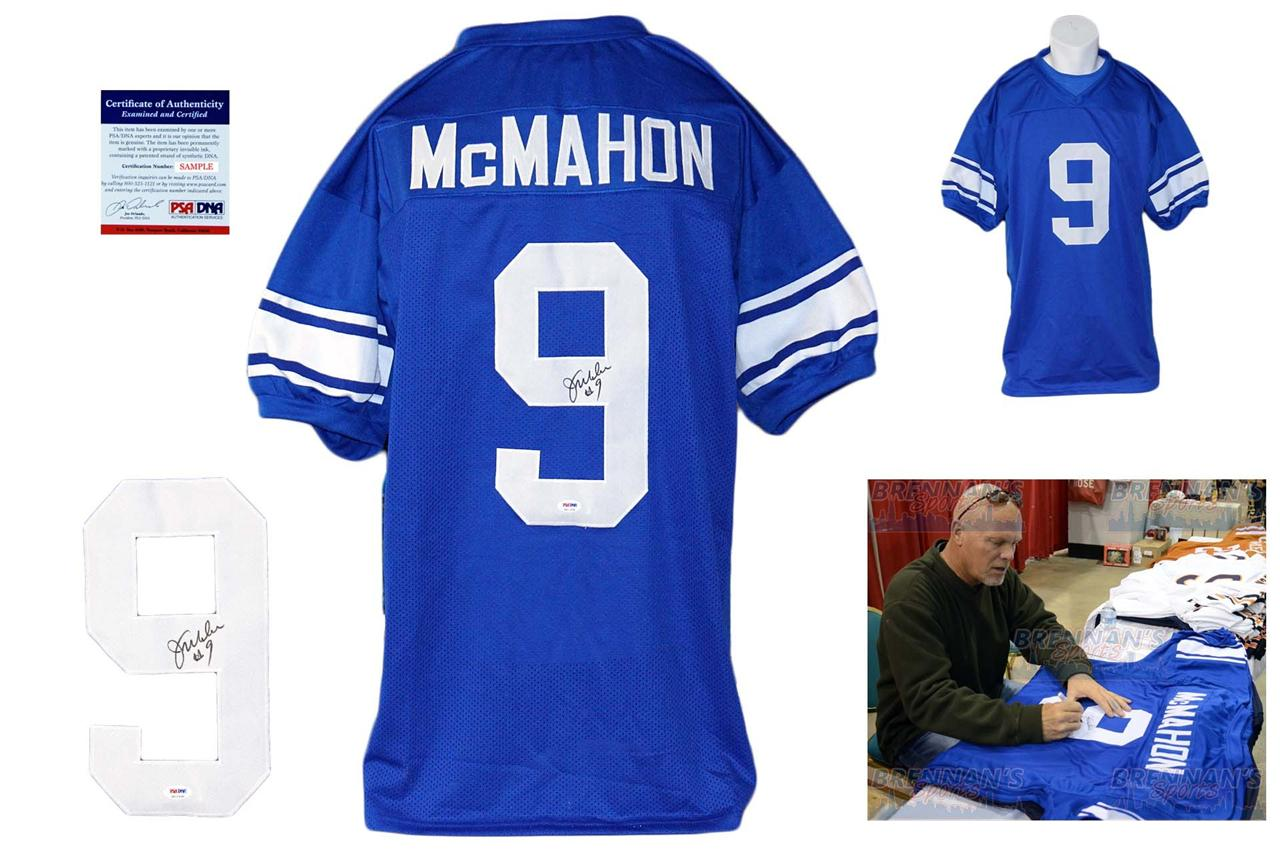 618857f52b1 Jim McMahon Autographed Signed BYU Cougars Blue Jersey PSA DNA ...