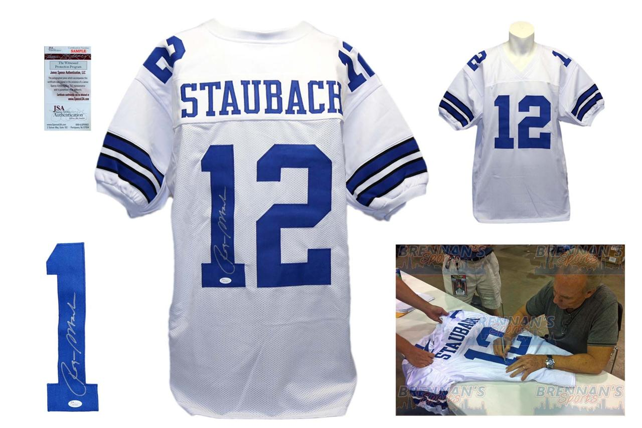 Roger Staubach Autographed Signed Jersey - White - JSA Authentic