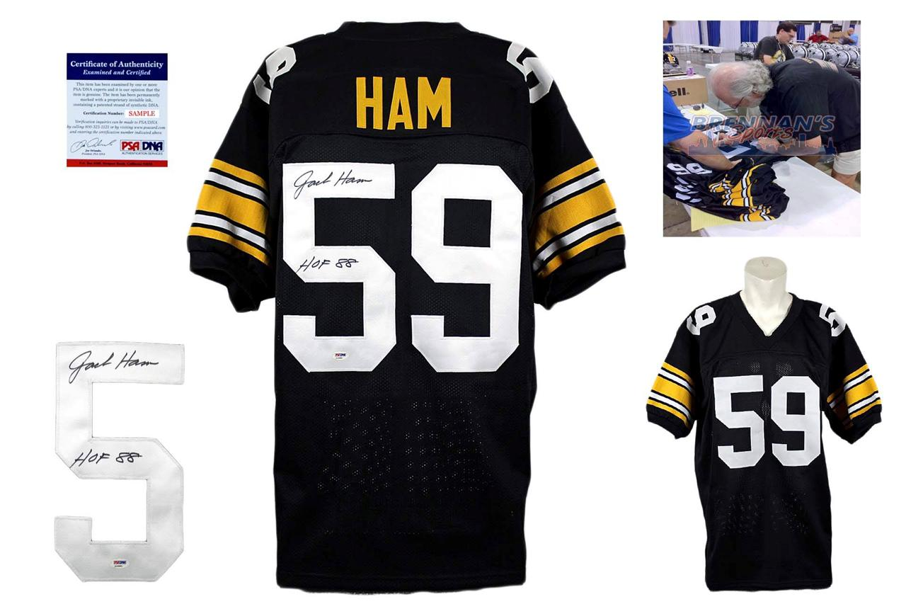 cb595c96c36 Jack Ham Autographed Signed Pittsburgh Steelers Black Jersey PSA DNA ...