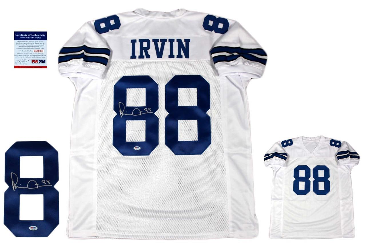 low priced 82fe9 51e8b Michael Irvin Autographed Signed Jersey - White - PSA Authentic