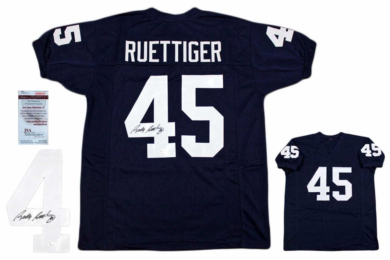 01db5b5b39d Rudy Ruettiger Autographed Signed Jersey - JSA Witnessed ...