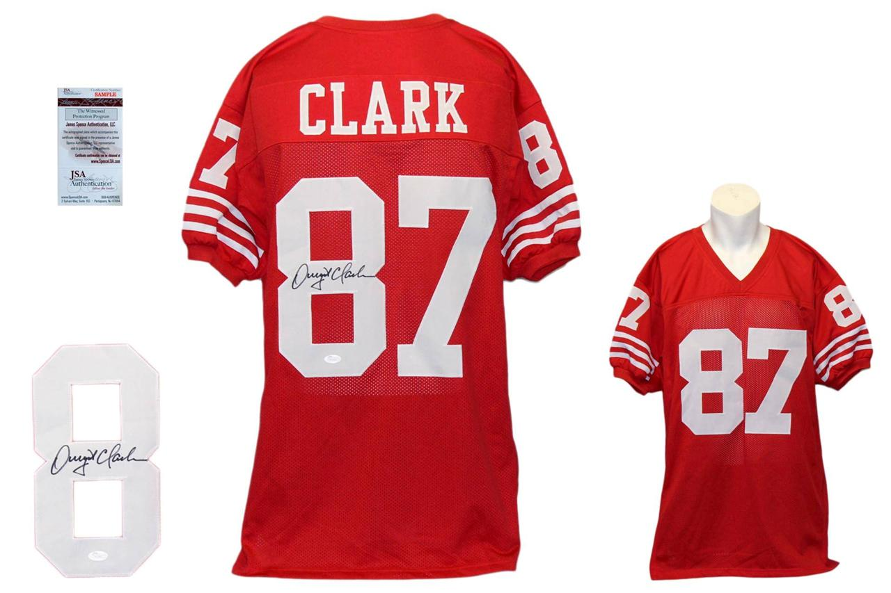 8010669e158 Dwight Clark Autographed Signed Jersey - Red - JSA Witnessed ...