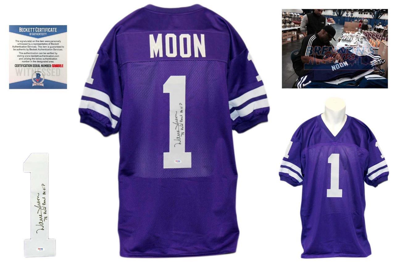 promo code fb70b 67a54 Warren Moon Signed Jersey - Beckett - Washington Huskies Autographed