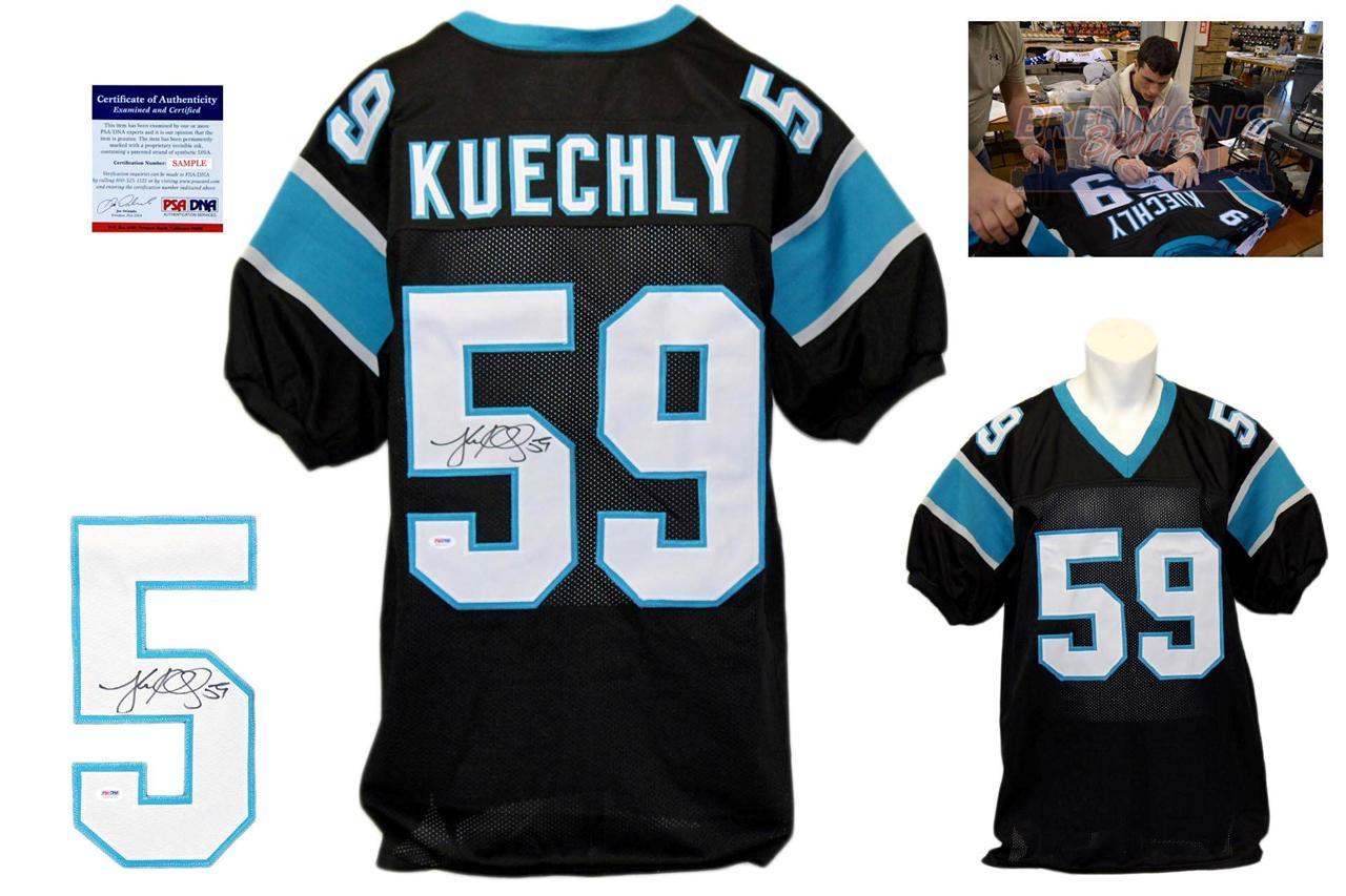 pretty nice 1b689 72e00 Luke Kuechly Signed Jersey - Beckett - Carolina Panthers Autographed - Black