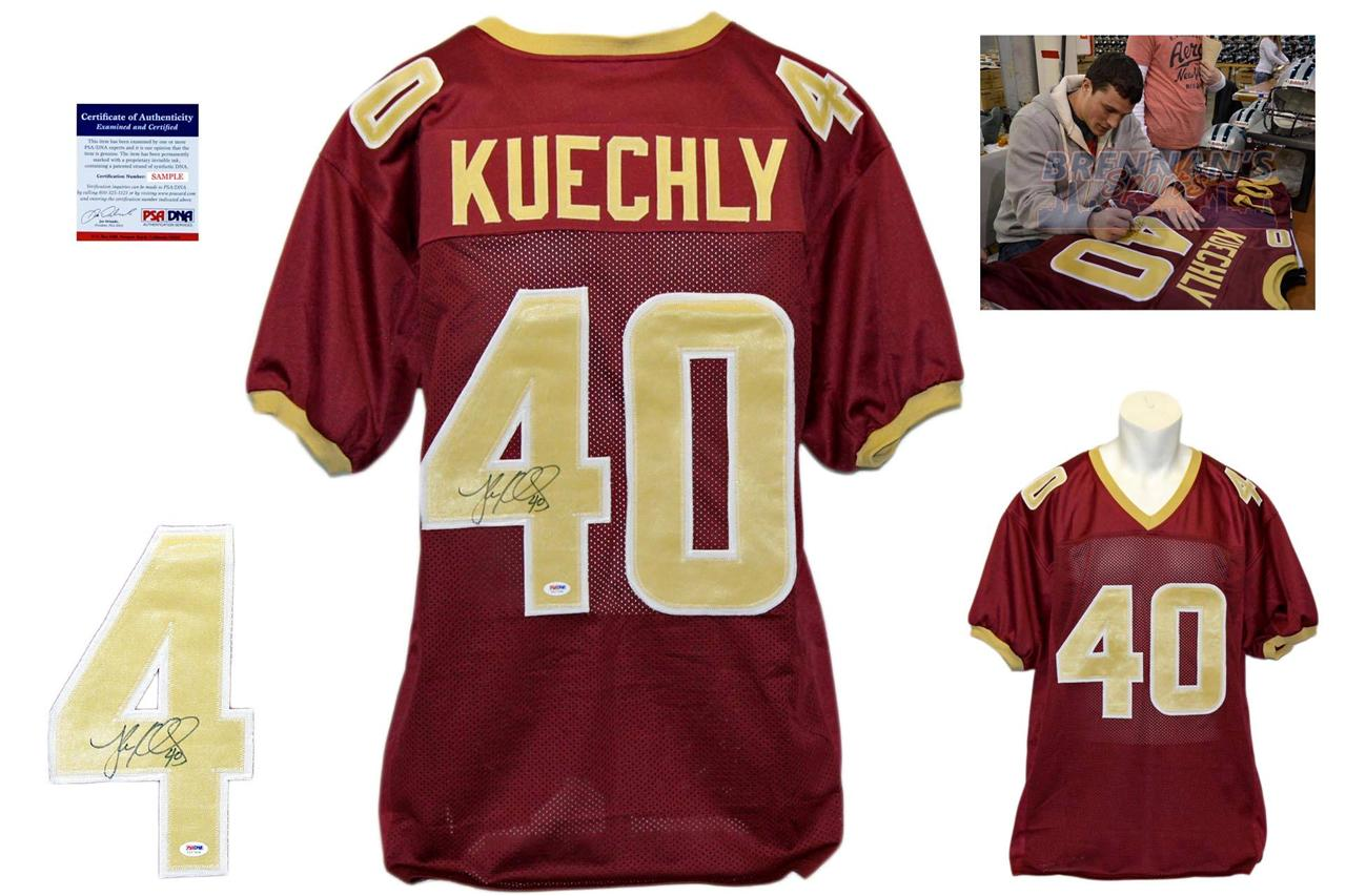 new arrival 01ee4 0018b Luke Kuechly Signed Autographed Boston College Burgundy Jersey - PSA DNA