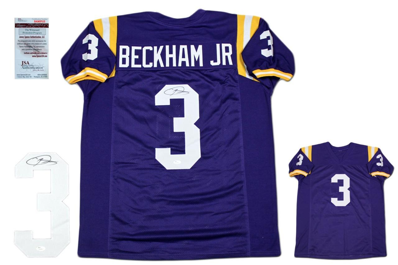 info for be91a 9bbe3 Odell Beckham Autographed Signed Jersey - JSA Authentic - Purple