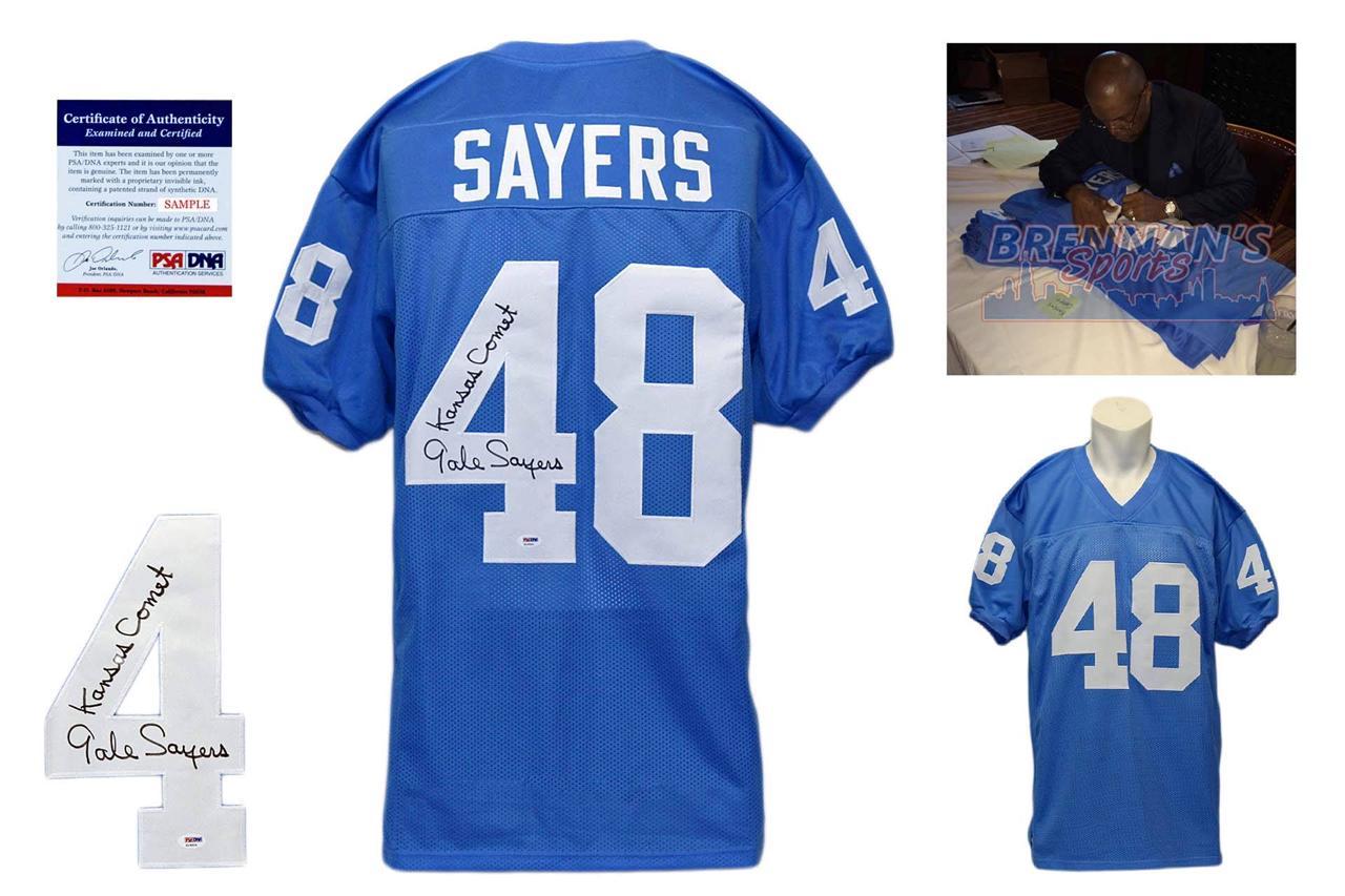 finest selection fe4e3 f3d2c Gale Sayers Signed Jersey - Kansas Jayhawks Autographed - PSA
