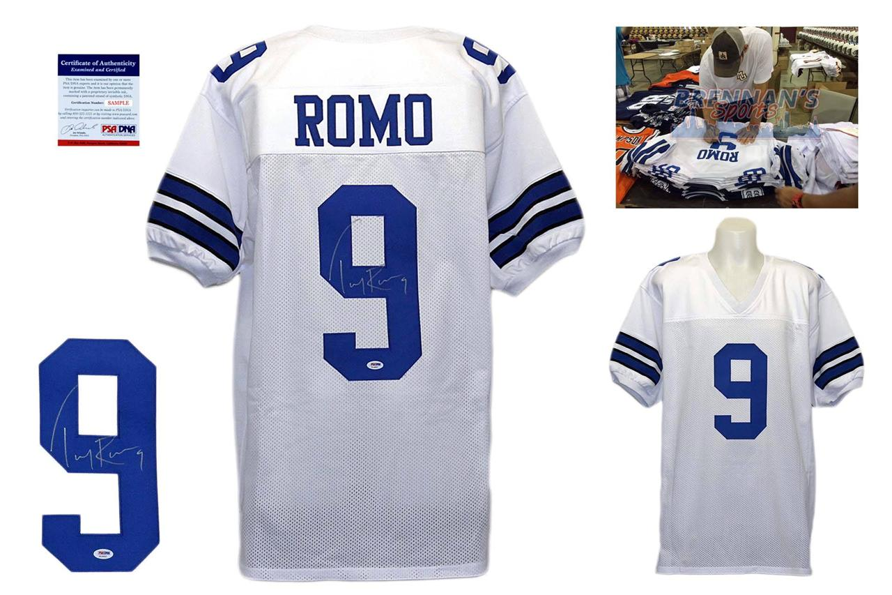 a10771ae2f4 Tony Romo Signed Jersey - PSA DNA - Dallas Cowboys Autographed - White ...