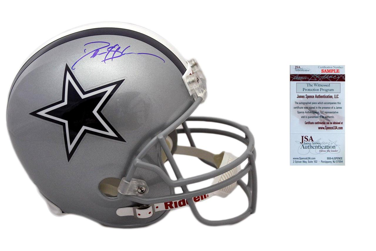 reputable site 18465 f1f81 Deion Sanders Signed Replica Helmet - Full Size Dallas Cowboys Autographed  - JSA Witness