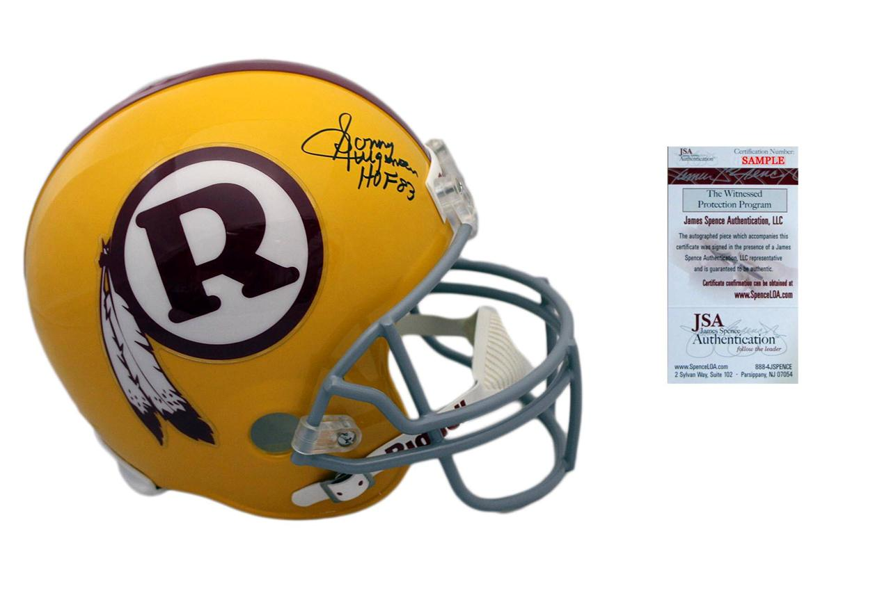 7c82c012960 Sonny Jurgensen Signed Replica Helmet - Full Size Washington Redskins  Autographed - JSA ...