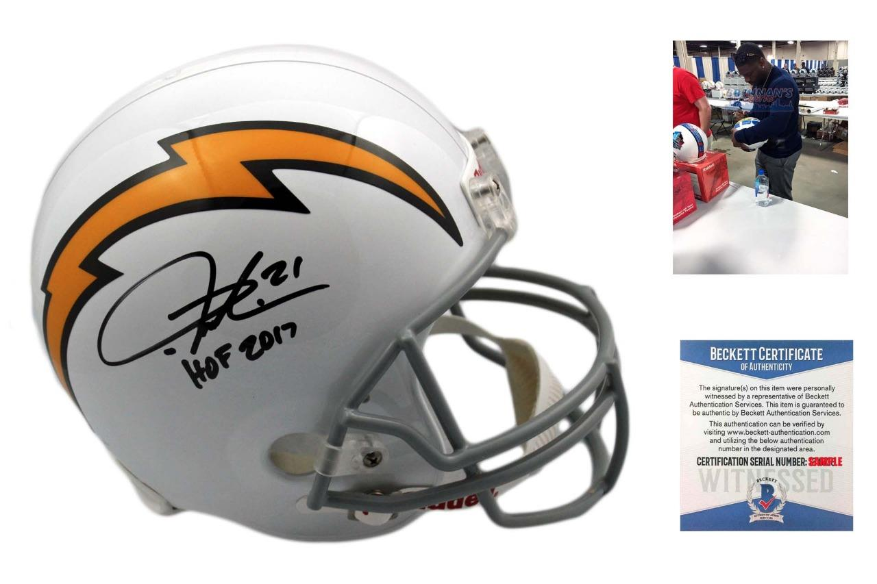 finest selection 86845 257e3 Ladainian Tomlinson Autographed Full Size Helmet - Beckett Authentic - HOF  17