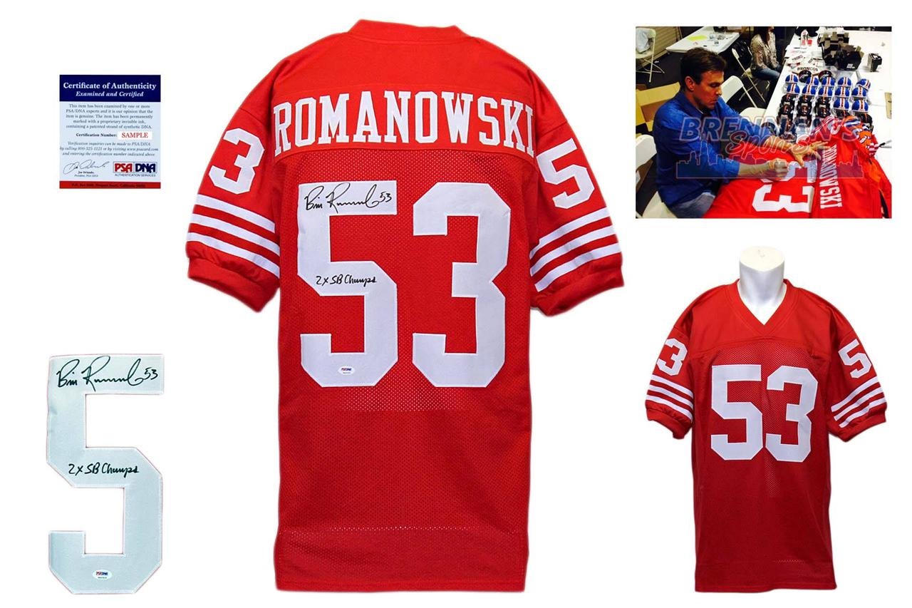 Bill Romanowski Signed Jersey - San Francisco 49ers Autographed - PSA DNA 9762a7d4f