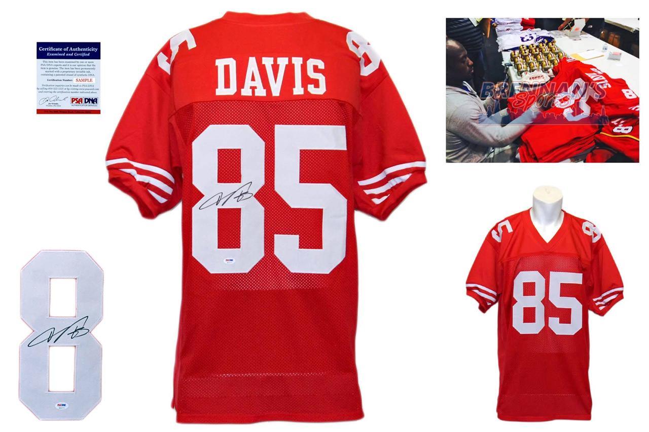 huge discount 131b1 1711e Vernon Davis Signed Jersey - San Francisco 49ers Autographed - PSA DNA ITP