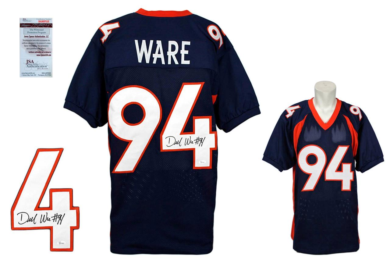 the latest 5d9c2 b5336 Demarcus Ware Signed Jersey - Denver Broncos Autographed - Navy - JSA