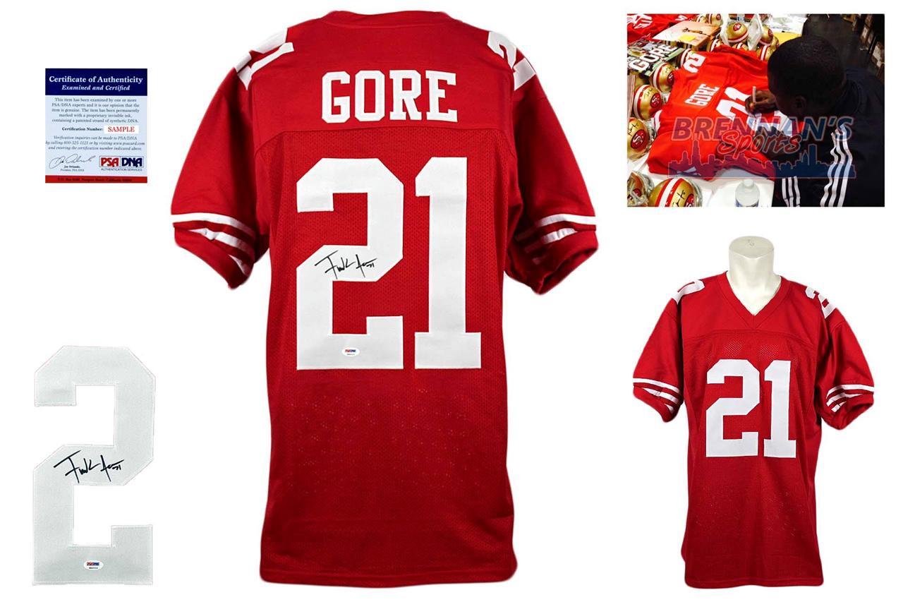 a52655a9c Frank Gore Signed Jersey - PSA DNA - San Francisco 49ers Autographed ...