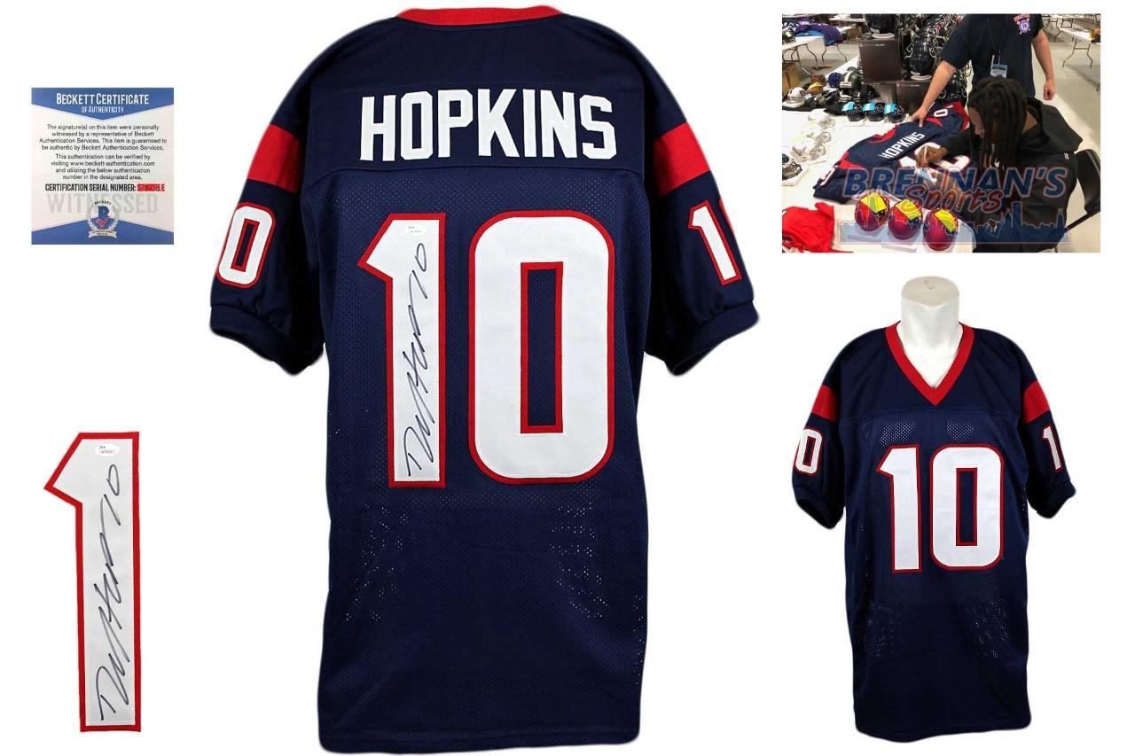 038d7442f8e DeAndre Hopkins Autographed Signed Jersey - Beckett Authentic - Navy ...