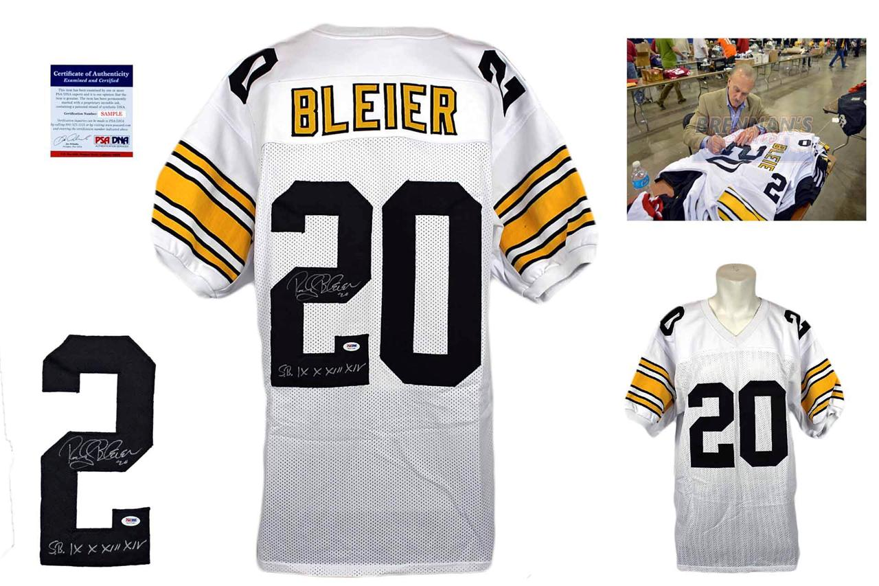 2b9a046629c Rocky Bleier Signed Jersey - WHT - PSA DNA - Pittsburgh Steelers Autographed  ...