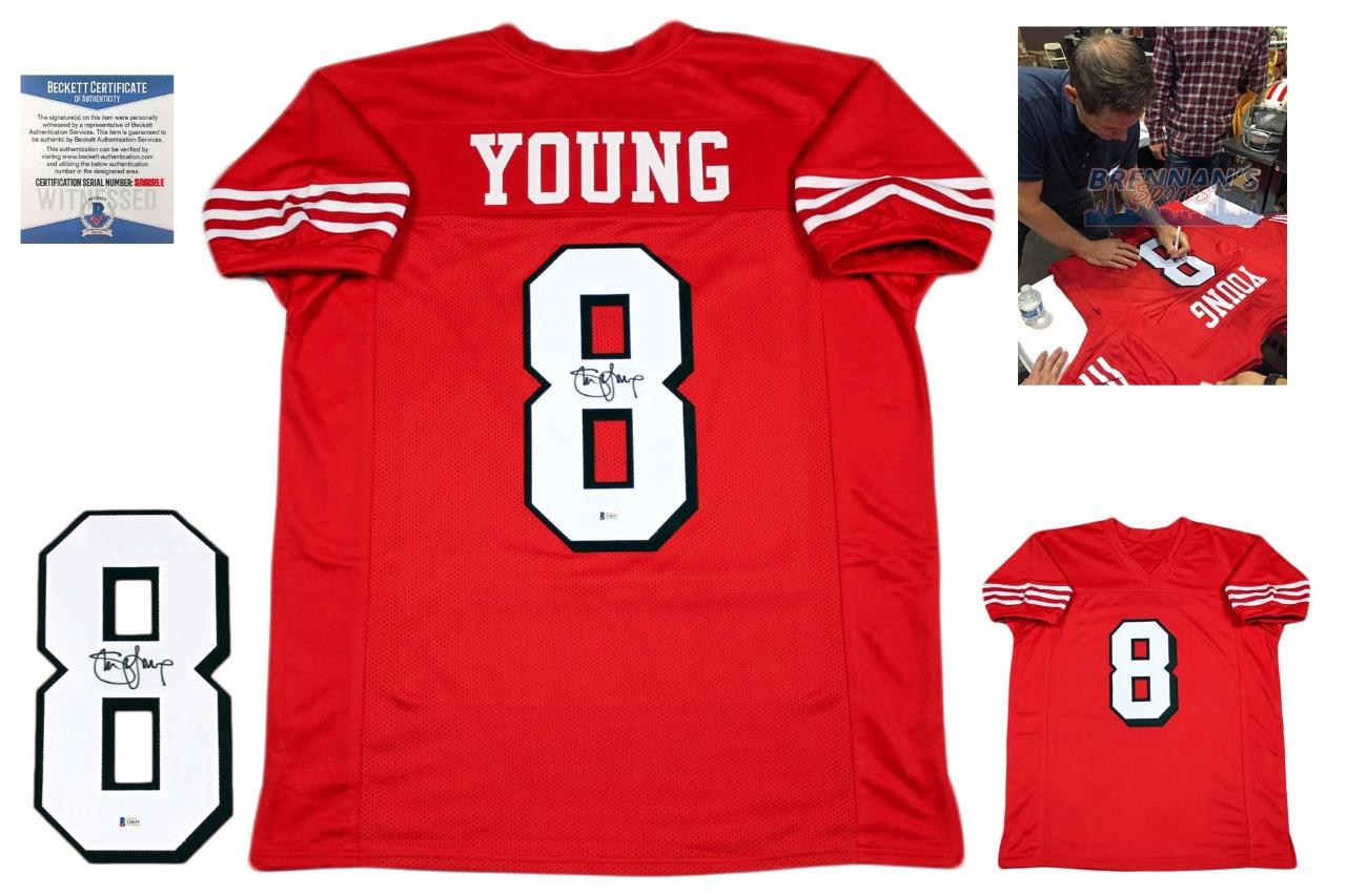 746cbf08499 Steve Young Signed Jersey - Beckett - San Francisco 49ers Autographed - TB